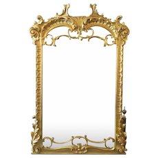 An Italian Baroque Style Over Mantel Mirror