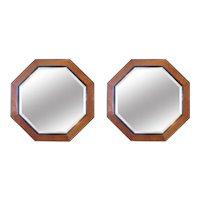 A Pair Of Monumental Octagonal Mirrors