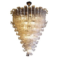 A Huge Murano Glass Chandelier