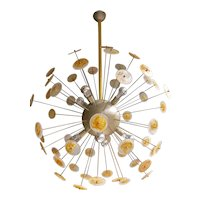 A large Italian Murano Glass Sputnik Chandelier