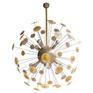 A large Italian Murano Glass Sputnik Chandelier