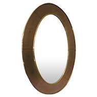 Cristal Arte Bronze Glass Oval Wall Mirror