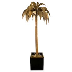 Tall Maison Jansen Palm Floor Lamp