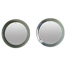 A pair of Circular Mirrors By Cristal Arte