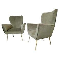 A Pair Of Midcentury Italian Armchairs
