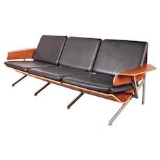 Cornelis Zitman Three-Seater Leather Sofa, 1964