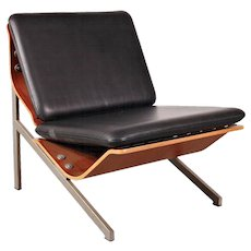 Cornelis Zitman Leather Easy Chair, 1964