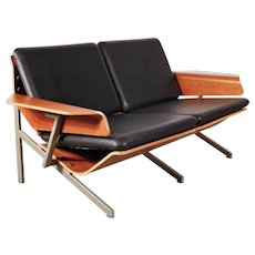 Cornelis Zitman Two-Seater Leather Sofa, 1964