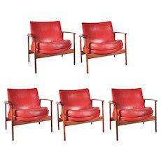 Easy Chairs by Ib Kofod Larsen for Carlo Gahrn Denmark, circa 1960