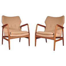 Set of Two Bovenkamp by Aksel Bender Madsen Easy Chairs, circa 1950