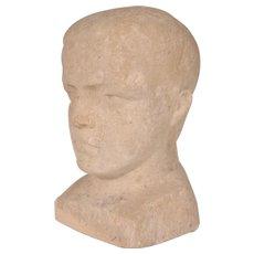 Unique Head Sculpture by John Raedecker, circa 1950