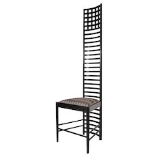 XL Edition Hill House Ladderback Chair by Charles Rennie Mackintosh, circa 1980