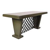 German Art-Deco Metal Table, circa 1930
