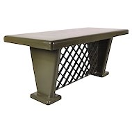 German Art-Deco Metal Table, circa 1930