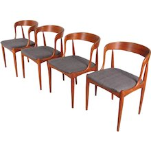 Set of Four Dining Chairs by Johannes Andersen, Denmark, circa 1950