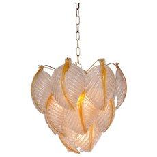 Murano Glass Ceiling Lamp by Mazzega, Italy, circa 1960