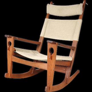 """""""Keyhole"""" Rocking Chair by Hans J. Wegner for GETAMA, Denmark, circa 1960  €3.400"""