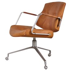 Leather Conforence Chair by Preben Fabricius and Jorgen Kastholm, circa 1960