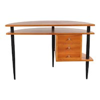 Wooden Desk in the Manner of Ilmari Tapiovaara, circa 1950