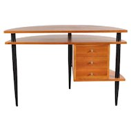 Wooden Desk in the Manner of Ilmari Tapiovaara, circa 1950