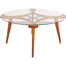 Round Coffee Table by Giordano Chiesa, circa 1950