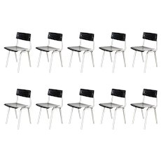 Set of Ten Friso Kramer Theater Chairs, 1959