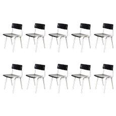 Set of Ten Friso Kramer Theater Chairs, 1959
