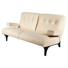 Eugenio Gerli Leather Sofa for Tecno, circa 1960