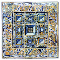 17th century diamond tip tiles