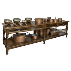 19th century wooden tailor's table