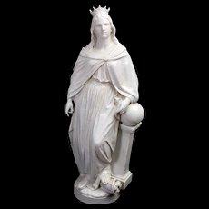 White Glazed Faience Statues