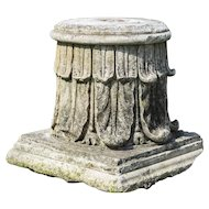 18th century stone column top