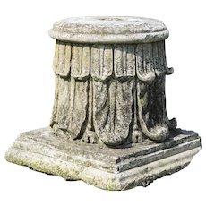 18th century stone column top