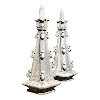 Pair of 19th century stone pinnacles