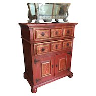 An 18th century canonical wooden cabinet