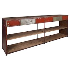 Carfting stand to use as a sideboard