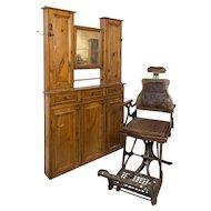 19th century Barbershop chair