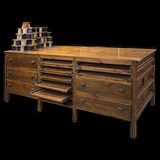 Wooden island counter