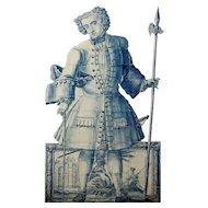 """18th century Portuguese tiles """"Figura de Convite"""""""