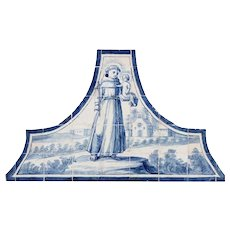 18th century Azulejos Saint