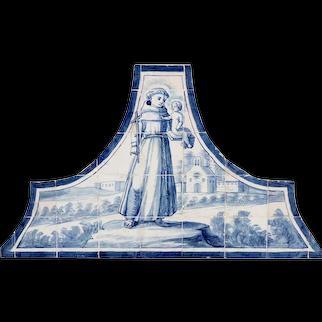 18th century Azulejos Saint