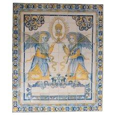 17th century Portuguese religious mural