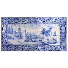 18th Century Blue and White Azulejos Mural