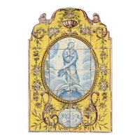 late 18th century religious azulejos panel