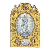 late 18th century religious azulejos panel