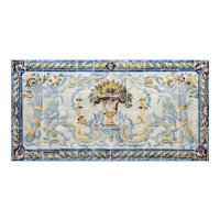 "late 18th century azulejos panel ""Swans"""