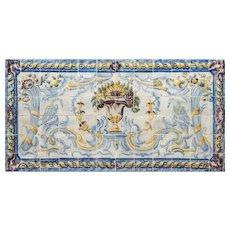 "late 18th century azulejos panel ""Swans"""