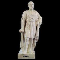 "19th century glazed faience statue ""Hippocrates"""
