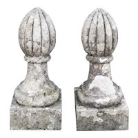 19th century pair of stone pinnacles