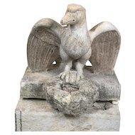 19th century stone Eagle